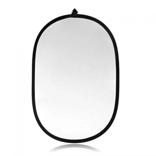 Réflecteur lumière - 90x120 cm - 5 en 1 ovale argent