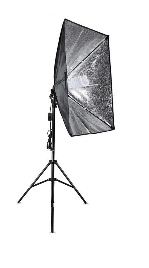 kit studio photo - 2 ampoules 135W - 2 trépied - 2 Softbox éclairage