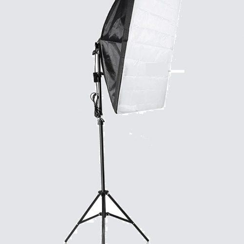 kit studio photo - 2 ampoules 135W - 2 trépied - 2 Softbox lumière
