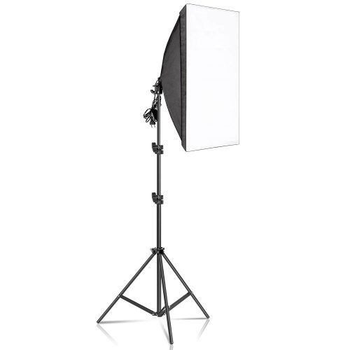 kit studio photo - 2 softbox 50x70CM + 2 Trépied 2m lampe