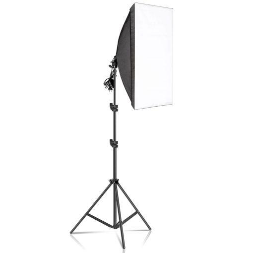 kit studio photo - 2 softbox 50x70CM + 2 Trépied 2m lampe