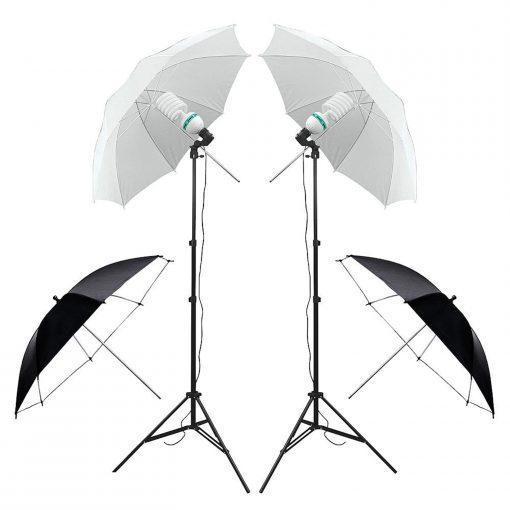 kit studio photo débutant - complet parapluie