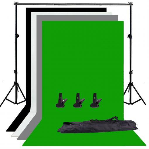 kit studio photo professionnel - Complet -2m fond